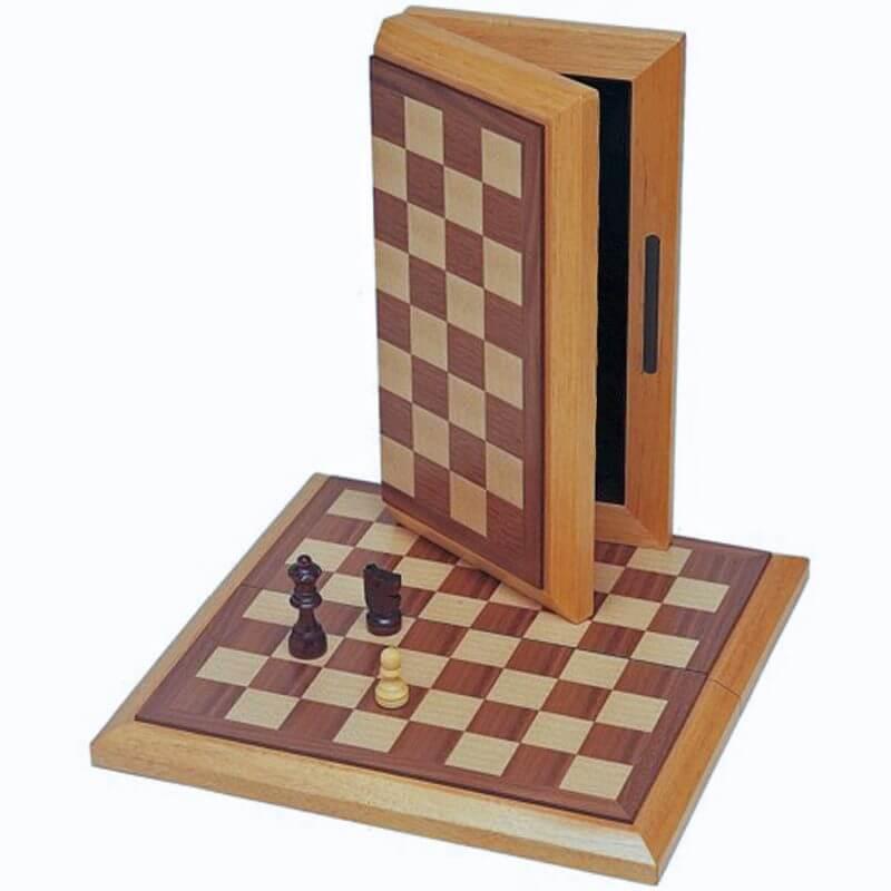 Classic Folding Chess Set – Wood Board 10.75 in.